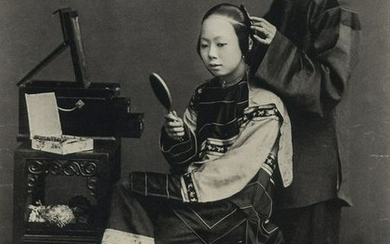 JOHN THOMSON - Chinese Woman and Servant, 1868