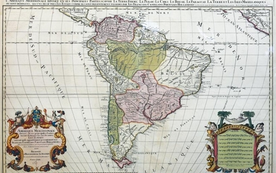 Jaillot Map of South America