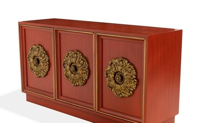 Lane - Red Lacquered Credenza