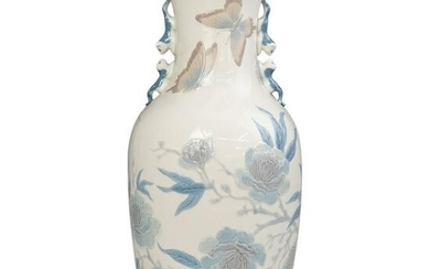 Large Lladro Porcelain Peking Glass Vase