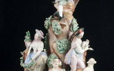 Large figural grouping with five figures and