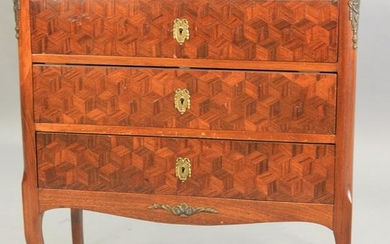 Louis XV style commode, with parquetry drawer fronts