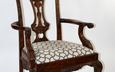 Maitland Smith Chippendale style armchair