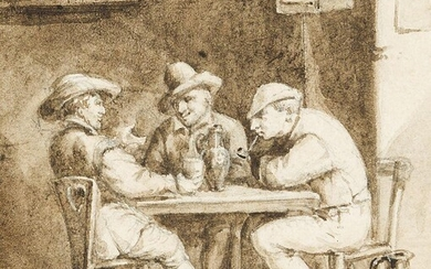 Manner of Adriaen Brouwer, late 17th/early18th century- Men seated at...