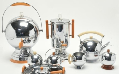 Mid-Century Chrome Finish and Bakelite Accented