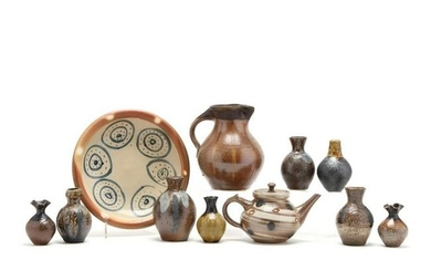 NC Pottery, Mark Hewitt Grouping of Eleven Pieces