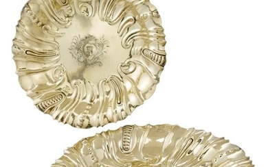 Pair of George III Sterling Silver-Gilt Dishes