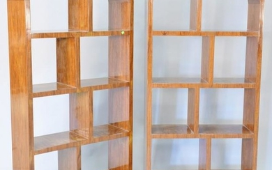 """Pair of Modern/Deco style book shelves, ht. 70 1/2"""""""