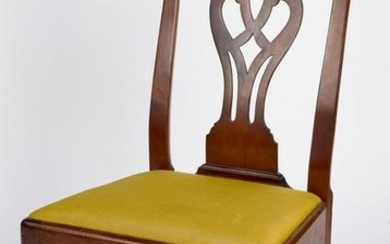 Pennsylvania Chippendale mahogany dining chair