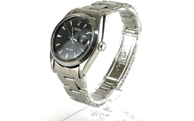 ROLEX, OYSTER DATE, A STAINLESS STEEL GENT'S WRISTWATCH Circ...