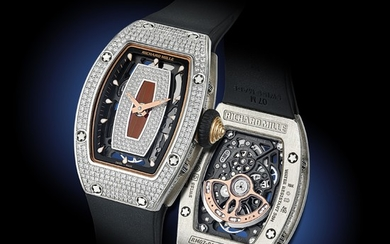 Richard Mille RM-07 Ladies' in 18K White Gold with Diamond Pave - Richard Mille