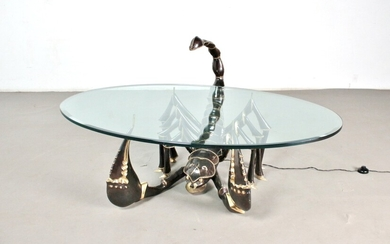 Sculptural coffee table Scorpio, probably Jacques Duval-Brasseur, France