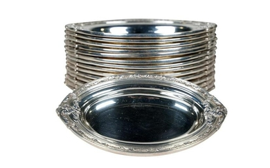 Set of 15 Cartier Sterling Silver Nut Dishes