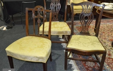 Seven harlequin mahogany dining chairs to include a set of f...