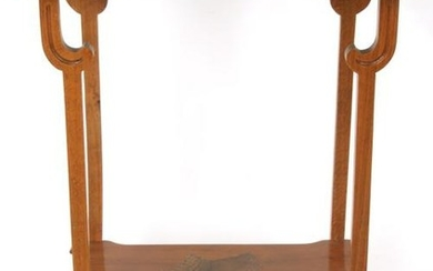 Signed Galle Two Tiered Inlaid Table