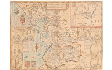 Speed (John) The Countie Pallatine of Lancaster, described and divided into Hundreds, 1610