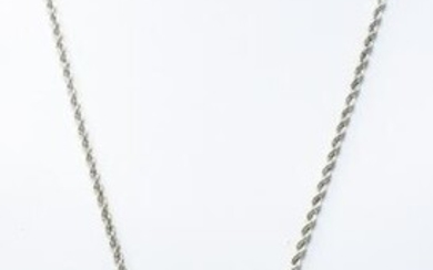 Sterling Silver & Fine 999 Silver Vintage Necklace