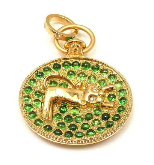 TEMPLE ST CLAIR 18K YELLOW GOLD DIAMOND TSAVORITE