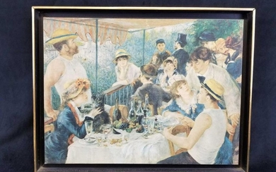 The Luncheon of the Boating Parting Framed Canvas Print