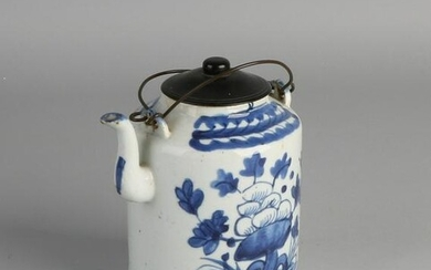Three various Chinese porcelain teapots with floral and