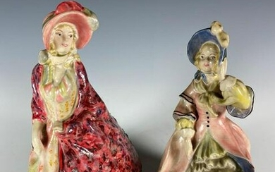 Two 20th Century Artist Signed Porcelain Figurines