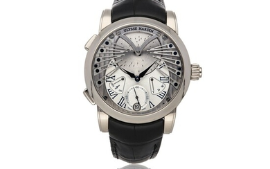 ULYSSE NARDIN | CLASSICO STRANGER REF 6900-125 - LE, A LIMITED EDITION WHITE GOLD AUTOMATIC WRISTWATCH CIRCA 2020