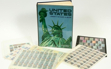 'UNITED STATES LIBERTY STAMP' ALBUM + OTHER STAMPS