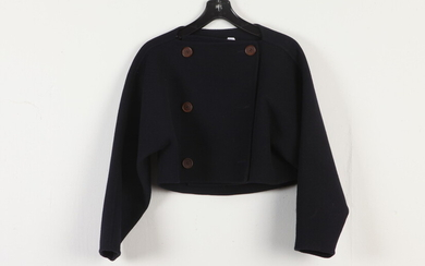 VINTAGE CLAIRE DRATCH NAVY BLUE WOOL DOUBLE-BREASTED JACKET. Estimate $40-60...