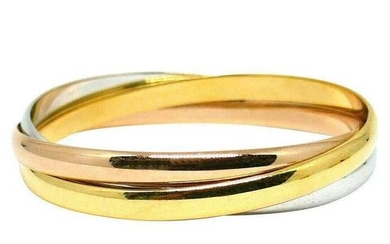 Vintage Cartier Trinity Yellow White Rose Gold Bangles