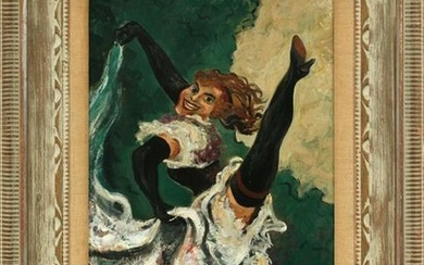 "WILLIAM GROPPER OIL ON CANVAS, ""THE KICK"""