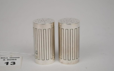 GEORG JENSEN STERLING BERNADOTTE SALT & PEPPER SHAKERS
