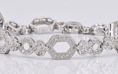18 kt. White gold - Bracelet - 2.36 ct Diamond
