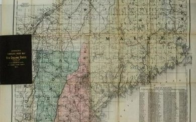1894 Johnson Map of New England States -- Johnson's
