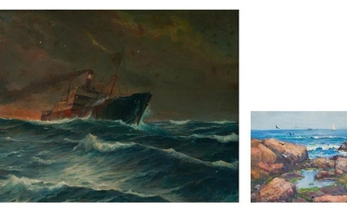 2 O/C Maritime Paintings, incl. Alfred F. Gerstmayr