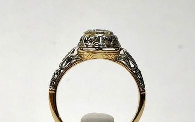 18 kt. Gold, White gold, Yellow gold - Ring - 0.63 ct Diamond