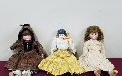3 Antique Dolls incl Simon and Halbig