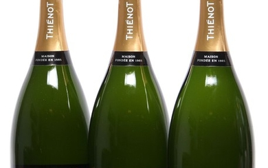 """3 bts. Mg. Champagne Brut """"Vintage"""", Thienot 2008 A (hf/in). Oc."""