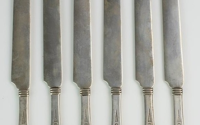 (6) Tiffany and Co. sterling breakfast knives