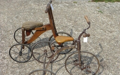 A Child's Tricycle. A good, late Victorian tricycle, with a...
