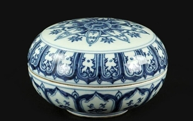 A Chinese Blue and White Porcelain Box.