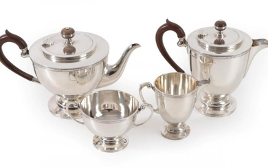 A Four-Piece George V Silver Tea-Service, by Frank Cobb and...