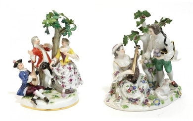 A Meissen Porcelain Figure Group, late 19th/early 20th century, as...
