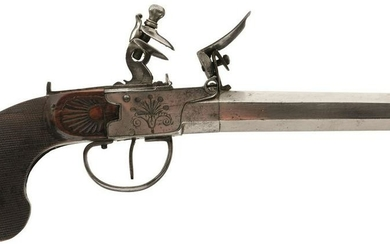A PAIR OF CONTINENTAL 40-BORE FLINTLOCK TRAVELLING