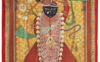 A PICCHVAI OF SHRI NATHJI, INDIA, NATHDWARA, LATE 19TH