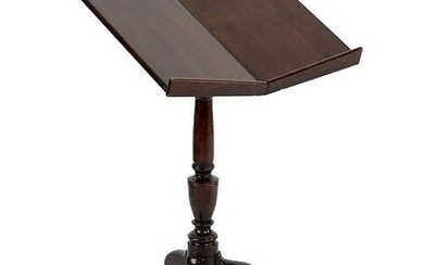 A Regency Style Mahogany Book Stand.