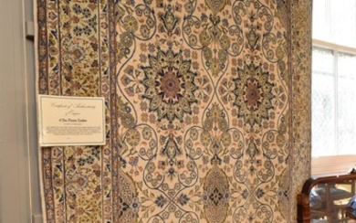 A TRULY MAGNIFICENT, RARE AND COLLECTABLE NEW PERSIAN KASHAN CARPET, HEAVY DENSE KORK WOOL PILE IN PRISTINE CONDITION, FINELY HAND K...