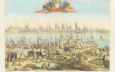 A View of the City of Constantinople, French School, 18th Century