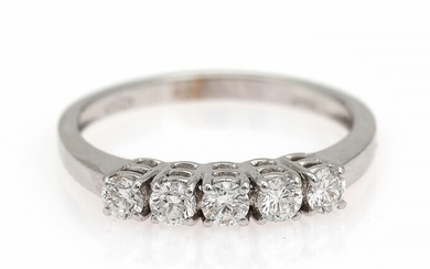 NOT SOLD. A diamond ring set with numerous brilliant-cut diamonds weighing a total of app....