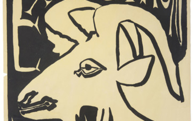 AN AUTOGRAPH POSTER BY PABLO PICASSO (SPANISH 1881-1973), EXPOSITION VALLAURIS, 1952