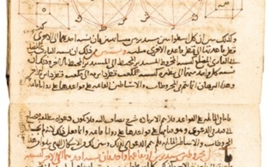 AN IMPORTANT EARLY COPY OF THE EDITION OF EUCLID'S ELEMENTS BY THE 13TH-CENTURY POLYMATH NASIR AL-DIN AL-TUSI (D.1274), POSSIBLY WITH THE FIRST FEW PAGES BY THE AUTHOR AND APPARENTLY PARTIALLY COMPLETED BY THE YEAR 1280 AD